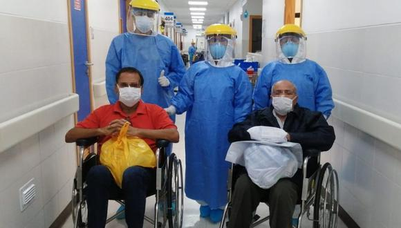 Los pacientes fueron dados de alta tras vencer al coronavirus (COVID-19). (EsSalud)
