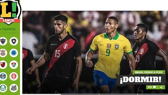 Perú 1-0 Brasil   Así reaccionó la prensa mundial tras el triunfo de la selección peruana ante el 'Scratch'   FOTOS