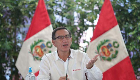 El presidente Martín Vizcarra señaló que ha solicitado a la ministra de Economía acudir también a la reunión con el Congreso. (Foto: Andina)