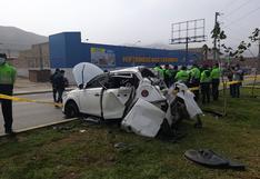 Ventanilla: mujer de 79 años muere al interior de un vehículo que fue impactado por un camión | VIDEO