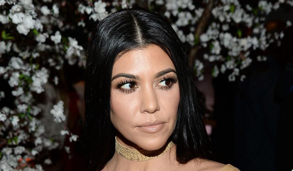 Kourtney Kardashian alborotó las redes con su fotografía. (AFP)