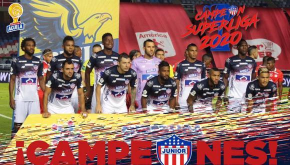 Junior venció por 2-0 a América de Cali y se coronó campeón de la Superliga de Colombia. FOTO: Junior FC