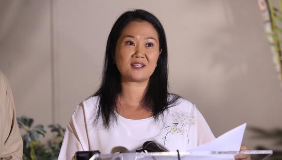 Keiko Fujimori anunció que retomó su liderazgo al 100% en Fuerza Popular. (Foto: GEC)