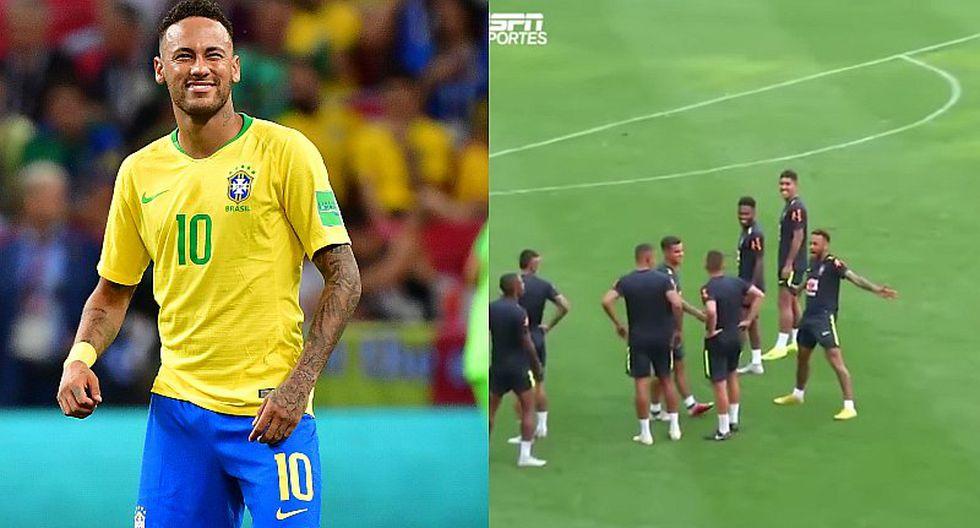 Neymar marcó golazo de tiro libre y celebró a lo Cristiano Ronaldo