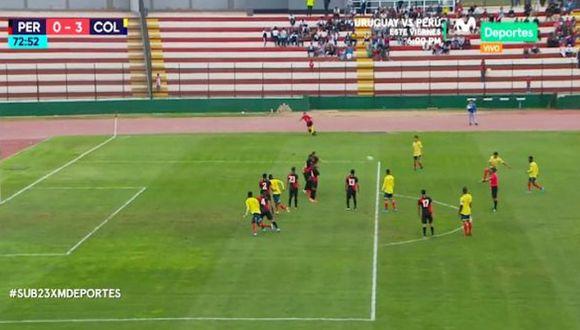 Perú vs. Colombia | El golazo de Brayan Vera que puso el tercero para los 'cafeteros' | VIDEO