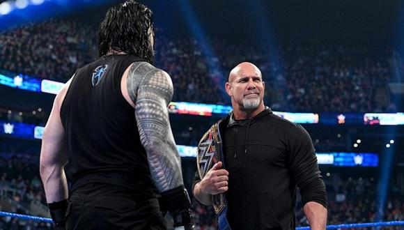 WrestleMania 36. Reigns vs. Golberg no se daría debido al Coronavirus. Foto: WWE
