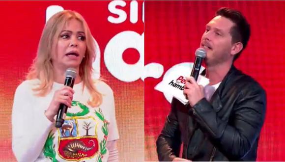 Teleton: así fue el tenso momento entre Gisela Valcárcel y Cristian Rivero (Foto: captura)