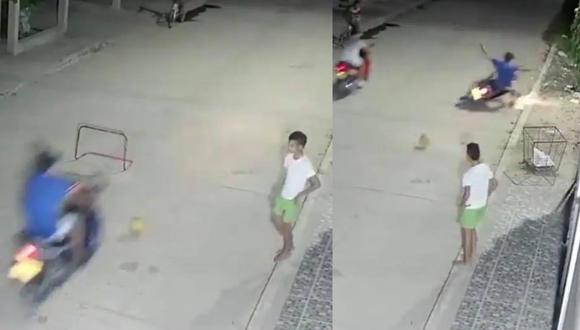 El accidente ocasionado por el joven se volvió viral en redes sociales.
