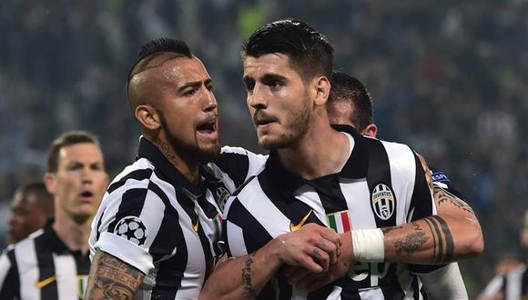 Arturo Vidal, Martín Cáceres y Álvaro Morata bailaron por título con la Juventus