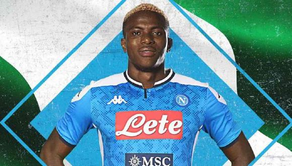 Napoli anunció el fichaje de Victor Osimhen. (Foto: @sscnapoliES)