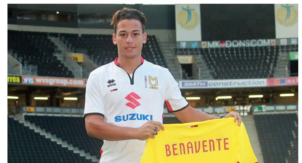Cristian Benavente: llegó su pase y debutaría con el MK Dons