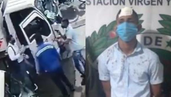 El ladrón tenía un arma de fuego y apuntó al trabajador para robar el lugar.