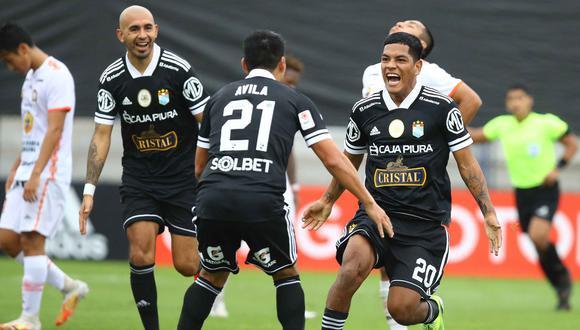 Sporting Cristal derrotó 2-0 a Ayacucho FC con goles de Ávila y Grimaldo. (Foto: Liga 1)