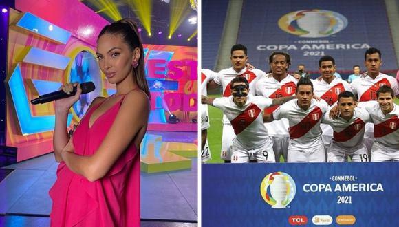 Natalie Vértiz agradeció a la Selección Peruana por su destacable labor en la Copa América 2021. (Foto: Instagram @msperu / @renatotapiac).