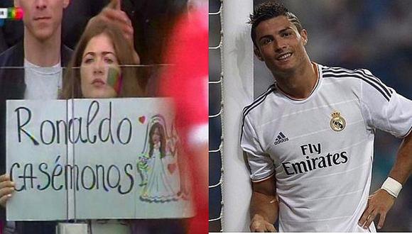 Copa Confederaciones: Hincha le pide boda a Cristiano Ronaldo [FOTO]