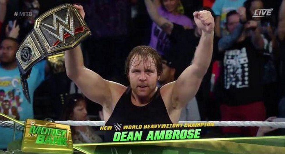 WWE: Dean Ambrose nuevo campeón en Money in The Bank [VIDEO]