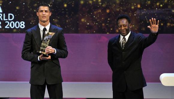 Pelé felicitó a Cristiano Ronaldo por batir su récord de goles oficiales. (Foto: AFP)