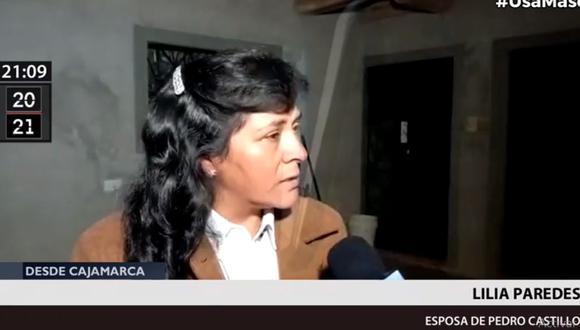 Lilia Paredes restó importancia a la vestimenta que llevará el día de la juramentación de Pedro Castillo, tras pregunta de periodista.
