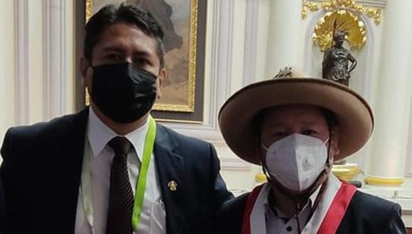 El Premiere le pidió a Cerrón no hacer desorden luego del mensaje a la nación de Pedro Castillo. (Foto: Facebook Guido Bellido)