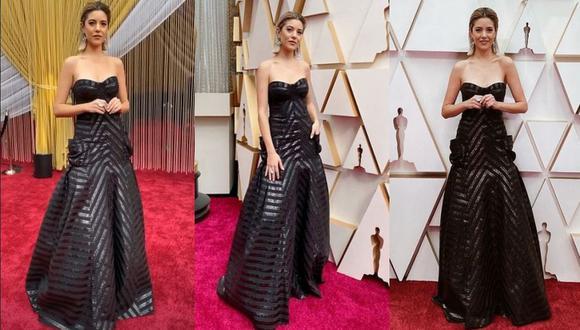 Lety Sahagun, presentadora de la cadena TNT, lució vestido de la diseñadora peruana Sandra Weil durante la alfombra roja de los premios Oscar 2020. (Foto: Instagram)