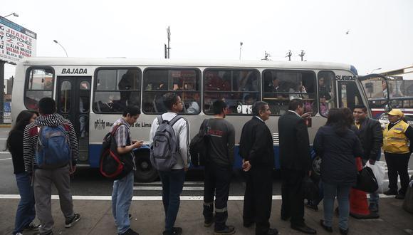 Servicio de los Corredores Complementarios queda garantizado luego que el Ejecutivo accedió a la subvención de los pasajes de quienes usan este servicio de transporte. (Foto: César Grados)