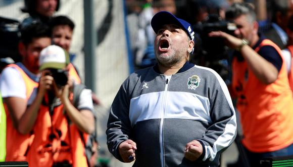 Diego Maradona no es más el técnico de Gimnasia y Esgrima La Plata   Foto: AFP