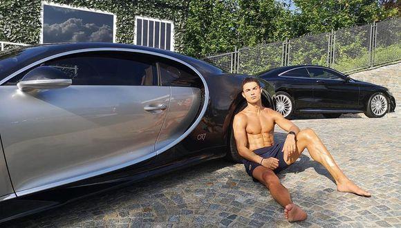 Cristiano Ronaldo se lució posando al lado de un lujoso auto. (Foto: Instagram)