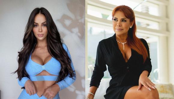 """Magaly Medina a Sheyla Rojas: """"Eres egoísta como madre"""". (Foto: @magalymedinav/@_sheyoficial)."""
