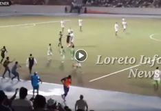 Copa Perú: Partido entre Comerciantes FC y Nacional fue suspendido por agresión contra el arbitro principal del partido