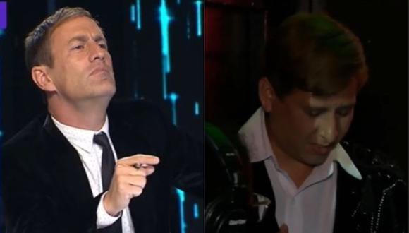"""""""Yo Soy"""": Así reaccionó Mauri Stern luego que el imitador de Ricardo Montaner abandonó el escenario. (Foto: Captura de video)"""