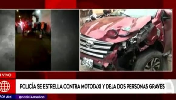 Los heridos son atendidos en el hospital Hipólito Unanue. Foto: captura América Noticias