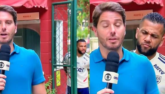 Dani Alves troleó a periodista brasileño de SporTV en pleno enlace en vivo donde informaba sobre Sao Paulo | VIDEO
