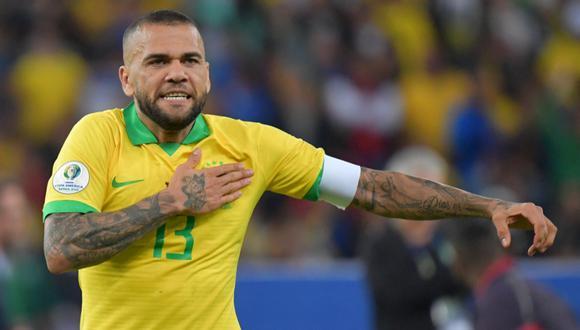 Dani Alves ganó la Copa América en dos oportunidades. (Foto: AFP)
