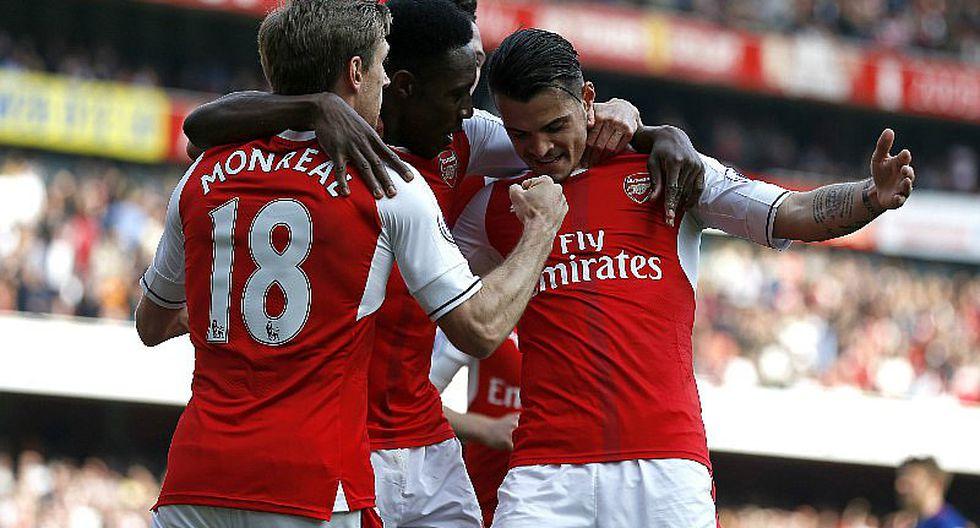 Arsenal venció 2-0 al Manchester United en la Premier League