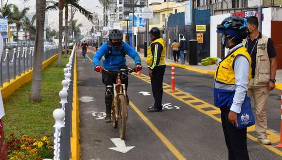 La ciclovía se inicia en la primera cuadra de la Av. Chorrillos (límite con Barranco) y culmina en el Malecón Grau, en la subida al Morro Solar. (Foto: Municipalidad de Chorrillos)
