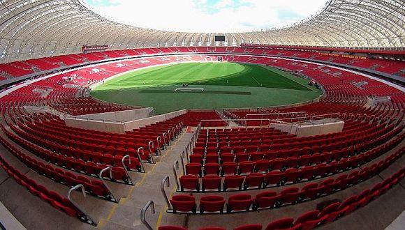 Así luce el campo del Beira Rio para el Internacional vs. Alianza Lima