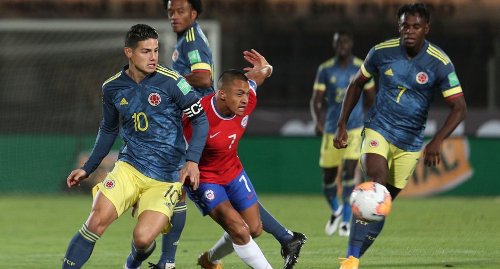 Chile 2-2 Colombia por las Eliminatorias a Qatar 2022