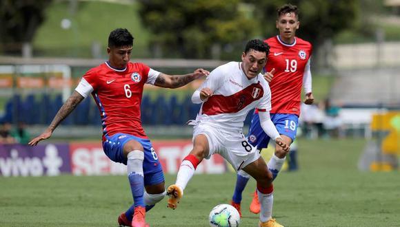 La selección peruana Sub 20 perdió 2-1 contra su similar de Chile en partido amistoso. (Foto: @LaRoja)
