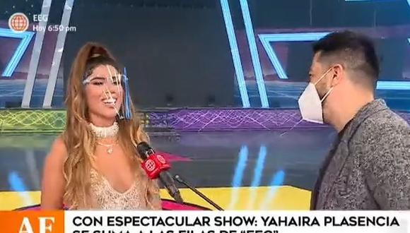 """Yahaira Plasencia fue presentada como """"el jale bomba"""" del reality """"Esto es guerra"""". (Foto: Captura de video)"""