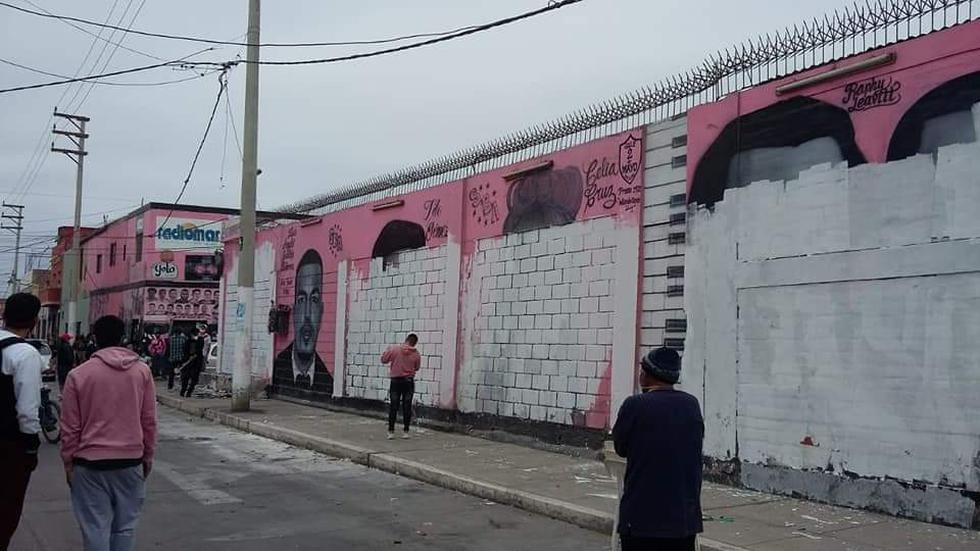 Las Caras de Atahualpa: borran emblemático mural del Callao [VIDEO]