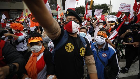 Las movilizaciones denominadas Gran Marcha Nacional y Respeta mi voto recorrerán las calles de Lima. (GEC)