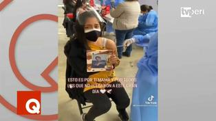 Viral: Joven se vacuna contra la Covid-19 junto a la foto de su madre fallecida