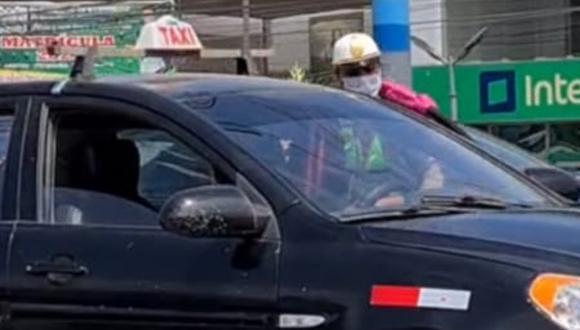 En Ventanilla un chófer era intervenido por una efectivo policial y de pronto se dio a la fuga. El momento quedó grabado en un video