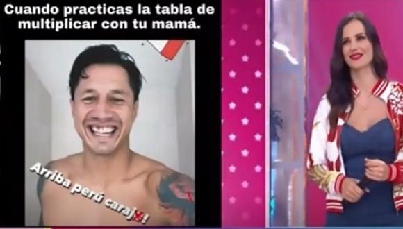 Maju Mantilla destacó la entrega de Gianluca Lapadula durante el duelo entre Perú y Venezuela. (Captura América TV)