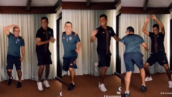 """El """"No Sé""""  es el tema de moda y Ronald Quinteros se animó a bailarlo junto al fisioterapeuta de César Vallejo.  (Tik Tok Club UCV)"""