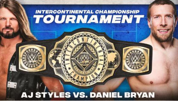 AJ Styles y Daniel Bryan chocarán por el título del Campeonato Intercontinental. (Foto: WWE)