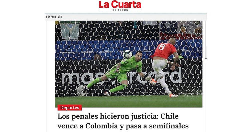 La selección de Chile clasificó a semifinales y así informó la prensa 'mapochina' el triunfo de 'La Roja'