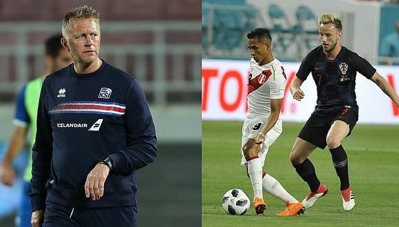 """DT de Islandia: """"A Perú lo vi bien contra Croacia"""""""