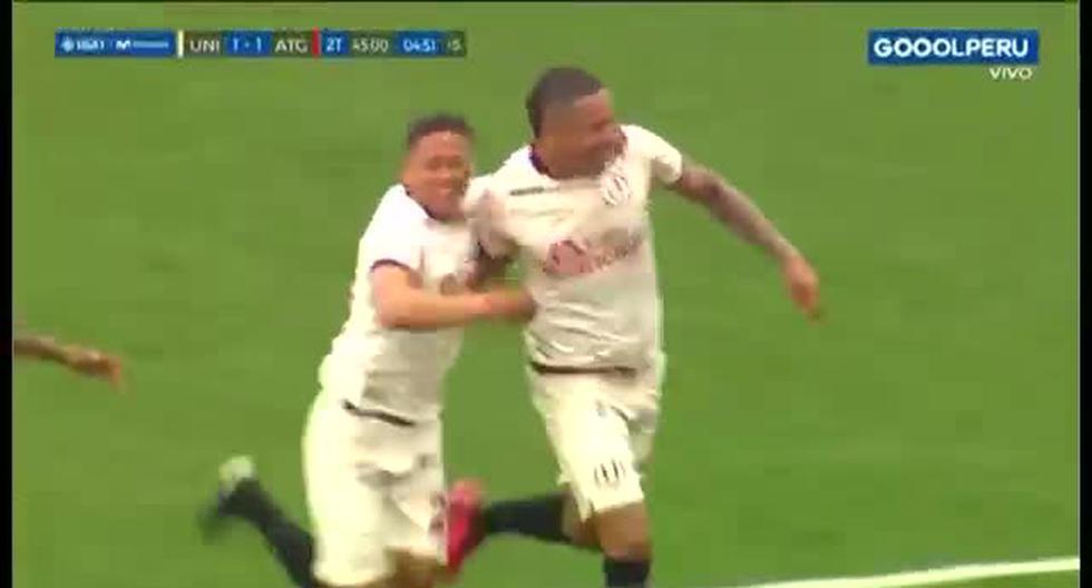 Universitario vs. Atlético Grau: gol de penal de Donald Millán para el 2-1 merengue [VIDEO]