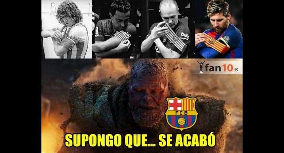 Los mejores memes de la probable salida de Lionel Messi del Barcelona. (Foto: Facebook)